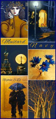 '' Navy & Mustard '' by Reyhan S.D.
