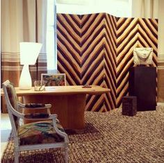 Pierre Frey is represented at AD Intérieurs 2015 exhibition through the chic and monastical cell of Suduca & Mérillou.