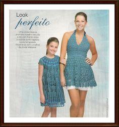 Mother - daughter crochet dresses