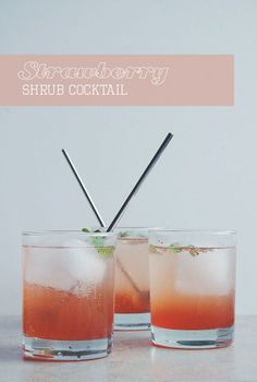 Strawberry Shrub Cocktail | bloggingoverthyme.com