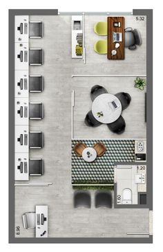 Neorama - Floor Plan - Office - Smart/Lima e Silva