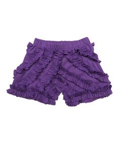 Loving this Dew Berry Ruffle Shorts - Toddler & Girls on Toddler Outfits, Toddler Girls, Ruffle Shorts, Something Special, Hue, Berry, Ruffles, Comfy, Pretty