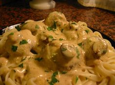 Boursin Mushrooms recipe - change dairy to almond milk an the noodles to gluten free or spinach