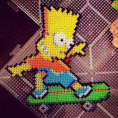 Bart Simpson perler beads by arts_and_graff