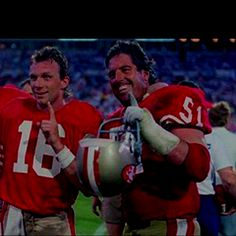 Randy Cross and Joe Montana