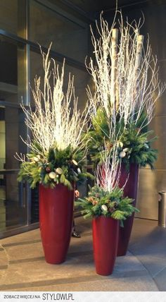 Floreros navideños