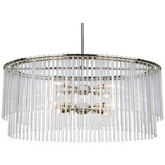 Crystorama Bleecker 8 Lights Polished Chrome Chandelier