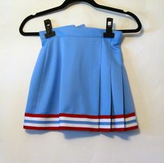 Vintage Baby Blue Pleated Cheerleader Skirt by NativeLilacVintage, $45.00