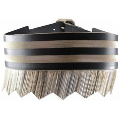 Versace Leather belt with fringes ($1,838) ❤ liked on Polyvore