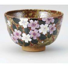 Kutani porcelain tea bowl Kouhaku sakura tioshi chawan Matcha Green Tea Japanese