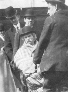 The Last Known Photographs Of Celebrities Before Death - Mark Twain- Last words written on a note by his death bed ''Death, the only immortal, who treats us alike, whose peace and refuge are for all. The soiled and the pure, the rich and the poor, the loved and the unloved.''