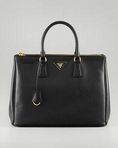 Prada Saffiano Executive Tote Bag, Nero - Neiman Marcus