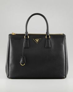 Prada Saffiano Executive Tote Bag, Nero - Neiman Marcus