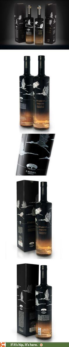 Starkus Rye Malt Vodka Bottle and box designed by Martyna Ząbecka for Kozuba & Sons.