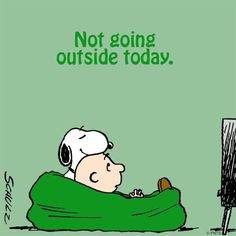 I'm putting this up RIGHT NOW for tomorrow! Yep, determination might just work. - (Snoopy