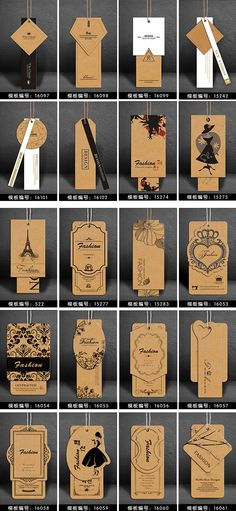 New Fashion Logo Design Inspiration Hang Tags Ideas Label Design, Packaging Design, Hangtag Design, Scarf Packaging, Custom Paper Bags, Paper Bag Design, Clothing Labels, Clothing Hang Tags, Clothing Branding