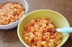 Homemade SpaghettiO's. interesting.  I wonder how this compares to the canned version. . . .  seems like its worth a try.