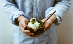 来自日本的清新味道:自制抹茶冰激凌