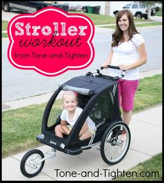 Stroller Workout from Tone-and-Tighten.com. Perfect for busy moms! #workout #fitness #strollerworkout