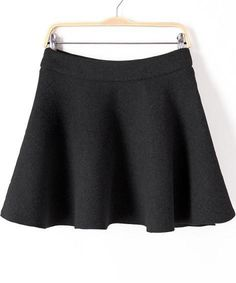 Shop Black Flare Woolen Skirt online. Sheinside offers Black Flare Woolen Skirt & more to fit your fashionable needs. Free Shipping Worldwide!