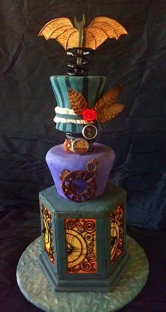 Steam punk wedding cake. Now only to find that huge 8 legged walking limo...