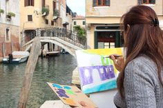 Venezia by Paola Painting Courses, Art Courses, Venice Painting, Creative Workshop, Drawing Lessons, Children And Family, Venice Italy, Art School, Drawings