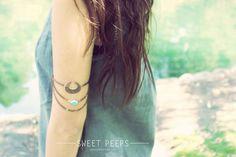 Bronze Chain Armlet Slave Bracelet Arm Bracelet Piece Body Jewelry Body Harness Arm Jewerly