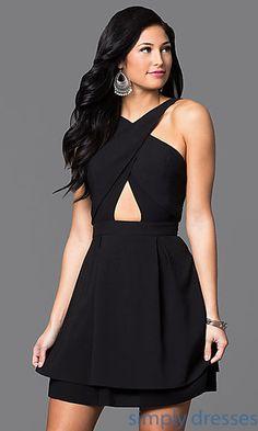 09d5d5f4f5 Shop short prom dresses and black party dresses at Simply Dresses. Backless  short black dresses