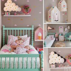 Веселая детская для девочек🎀☀👯 #копилка_идей #декор #стиль #современный #интерьер #аксессуары #дизайн #дизайнинтерьера #детская #уютный #игровая #комната #kashtanovacom #interior #nursery #design #decor #room