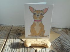 Dog Card: Chihuahua by huxleyjonesdesigns on Etsy