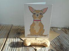 Dog Card: Chihuahua by huxleyjonesdesigns on Etsy