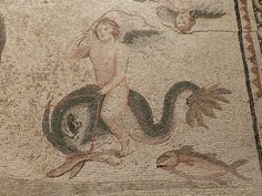 Zeugma Mosaic Museum, Detail from Oceanus and Tithys Mosaic.