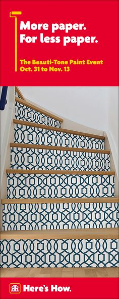 Peel and Stick Wallpaper November 13, Wallpaper Online, Home Hardware, Reno Ideas, Peel And Stick Wallpaper, Staircases, Home Decor Items, Home Renovation, Home Accents