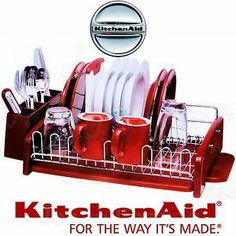 DISH DRYING RACK by KITCHENAID Found at COSTCO Red