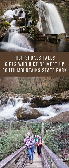 High Shoals Falls trail in South Mountains State Park, NC is a beautifully scenic trail with a waterfall! Visit Nc, North Carolina Vacations, Camping Places, Mountain States, Beautiful Places To Travel, Hiking Trails, Outdoor Travel, Waterfalls, Travel Usa