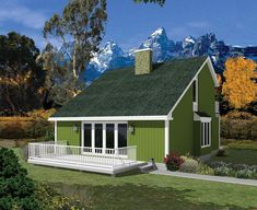 House Plan 95994 | Colonial Contemporary Saltbox Plan with 1299 Sq. Ft., 3 Bedrooms, 2 Bathrooms