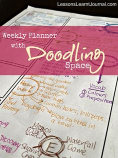 @LLJournalAust: Free Printable Weekly Planner with Doodling Space. Combines the love of doodling and planning.
