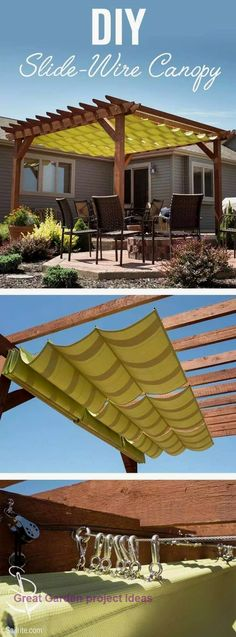 18 Backyard Pergola Ideas for Outdoor Shade. You may make your property much more particular with backyard patio designs. You can turn your backyard right into a state like your dreams. You won't have any problem at this point with backyard patio ideas. Diy Pergola, Patio Diy, Building A Pergola, Wooden Pergola, Outdoor Pergola, Pergola Shade, Pergola Roof, Cheap Pergola, Patio Shade