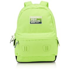 Superdry Rainbow Montana Rucksack ($50) ❤ liked on Polyvore featuring bags, backpacks, green bags, rainbow backpack, backpacks bags, logo bags and rucksack bag