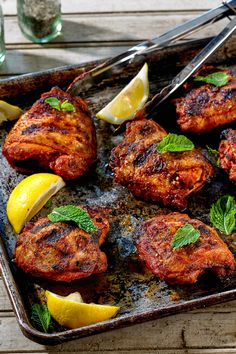 NYT Cooking: These chicken thighs are roasted in the heat of a covered grill, smoke commingling with the tint and flavor of paprika to create, thanks to caramelized honey, a sort of crust that makes it very difficult to stop eating. You start by making a paste of sweet and hot paprikas, honey, lemon juice, garlic and butter. Rub that all over the meat, then cook the chicken o...