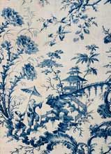Bromley Hall printed toile, England 18th c. http://belovedlinens.net/fabrics/printed-toiles.html