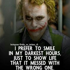 Image may contain: 1 person Badass Quotes, Best Joker Quotes, Best Quotes, Joker Quotes Wallpaper, Heath Ledger Joker Quotes, Strong Mind Quotes, Insanity Quotes, Genius Quotes, Warrior Quotes