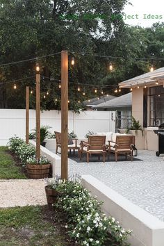 Backyard Makeover Reveal: Riverside Retreat Decoration Ideas Instead of Small Te . - Backyard Makeover Reveal: Riverside Retreat Decoration ideas instead of small terraces Honorable - Backyard Patio Designs, Landscaping Design, Backyard Seating, Diy Patio, Backyard Cafe, Small Patio Design, Backyard Porch Ideas, Small Backyard Landscaping, Pergola Patio