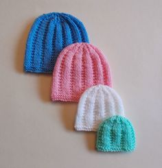 Perfect Premature Unisex Baby Hats pattern by marianna mel - Knitting patterns, knitting designs, knitting for beginners. Baby Hat Knitting Patterns Free, Baby Cardigan Knitting Pattern, Baby Hat Patterns, Baby Hats Knitting, Free Knitting, Knitted Hats, Crochet Patterns, Free Pattern, Beanie Pattern