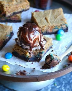 Chocolate peanut butter gooey butter cake