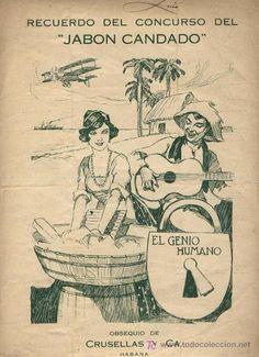 partitura, publicidad JABON CANDADO , Habana