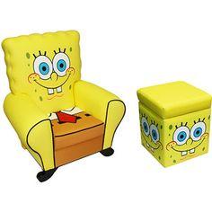 Nickelodeon - SpongeBob Chair and Storage Ottoman Bundle