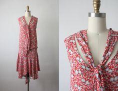 holland blooms dress / 20s dress / 1920s dress by 1919vintage