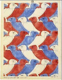 Birds by M C Escher
