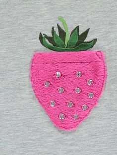 Strawberry Pocket T-Shirt 3d Prints, Graphic Prints, Patch Tshirt, Cute Baby Boy Outfits, Holiday Wardrobe, Patch Design, Kids Pillows, Embroidery Techniques, T Shirts With Sayings